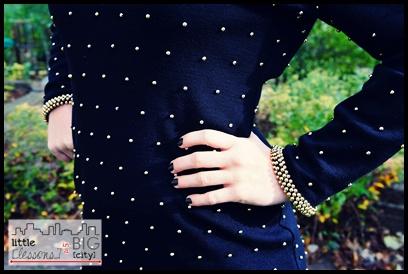black + gold beads // LLinaBC.com