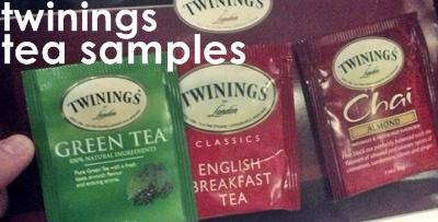 twinings tea samples