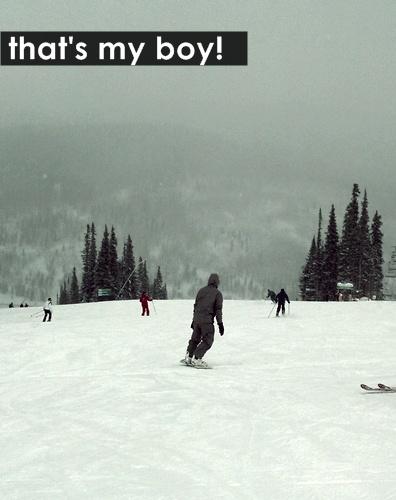 jeff on snowboard