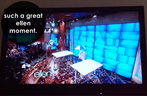 a great moment on the ellen show