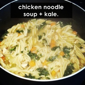 chicken noodle soup with kale