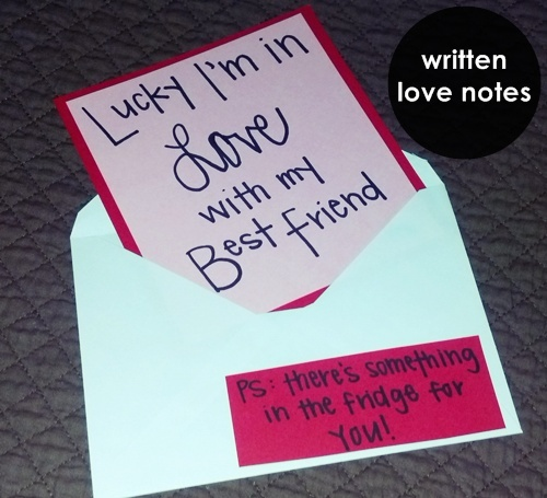 handwritten love notes - lucky I'm in love with my best friend.