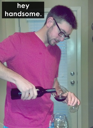 pouring the wine