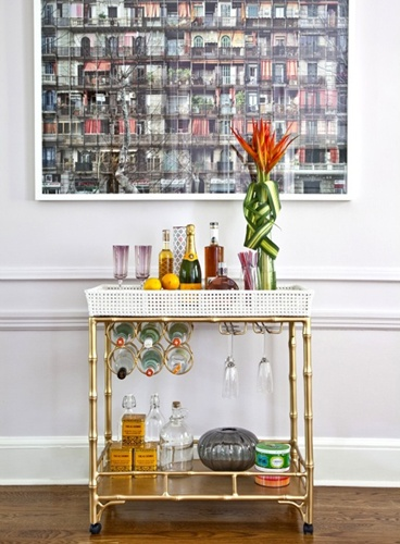 bar cart bamboo