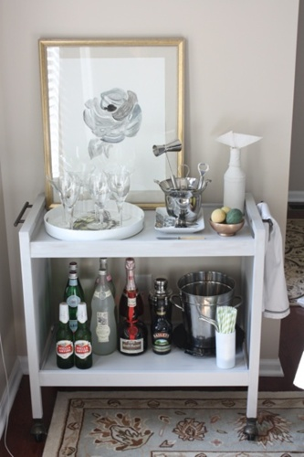 bar cart white
