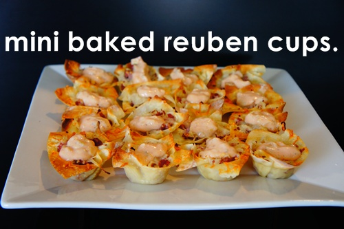 mini baked reuben cups