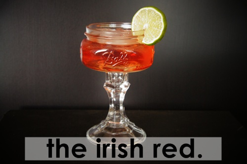 the irish red: whiskey drinking. perfect for st patricks day.
