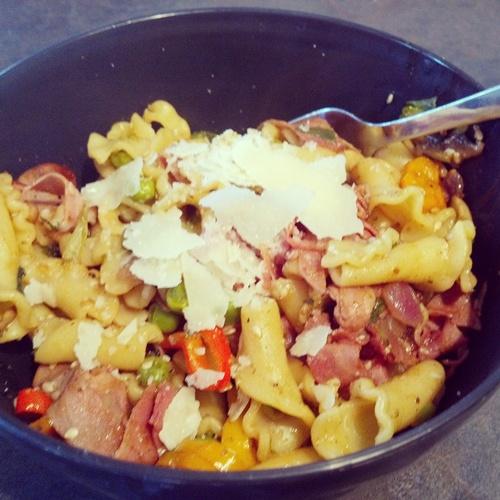 ham & veggie pasta